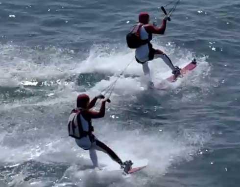 Surfen am Himmel