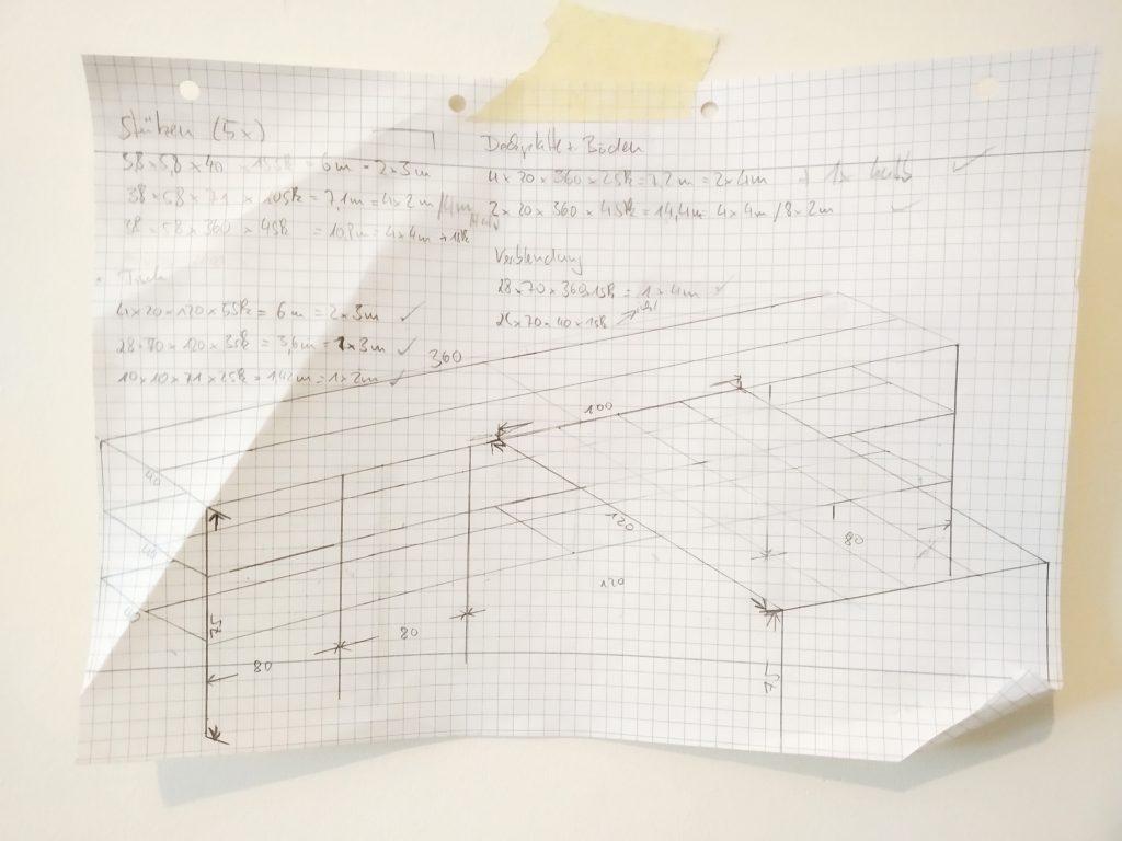 KonstruktionszeichnungKueche