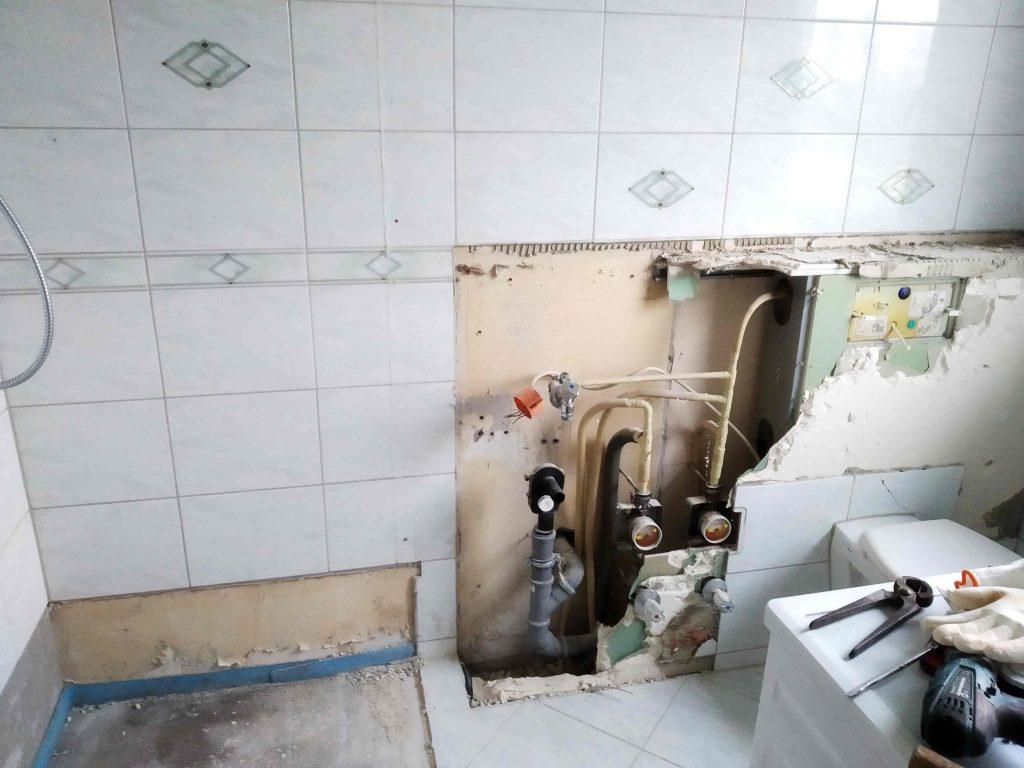 Abriss unseren alten Bads