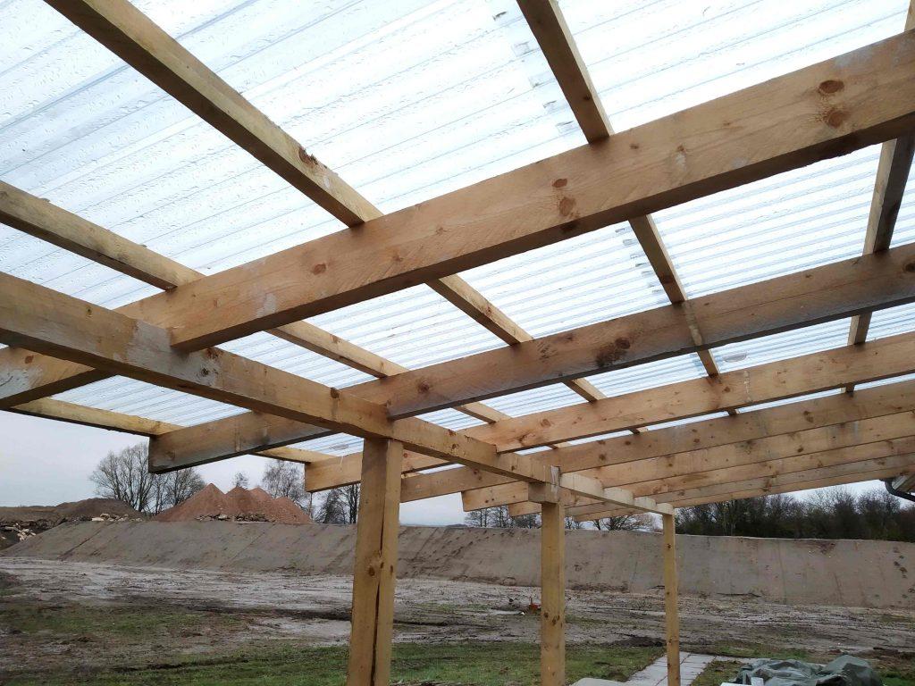 fertig gedecktes Dach